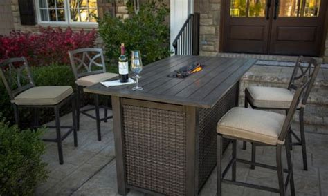 bar height patio table with pit 4 photos of my favorite bar height pit table