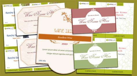 make your own labels templates free wine label template make your own wine labels