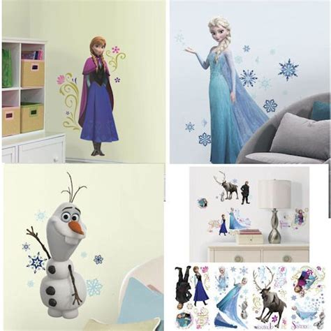 Disney Caracters In Hospital Flooring - frozen interactive wall sticker 48 pce doll store