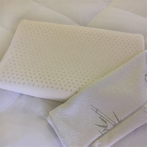 latex foam bed pillows natural latex foam pillow with removable bamboo cover