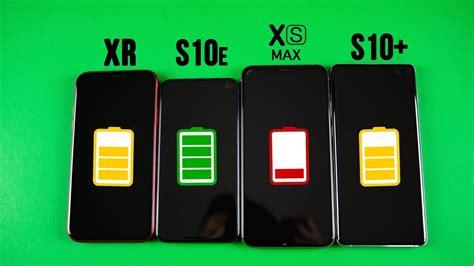 galaxy s10 plus vs iphone xs max vs galaxy s10e vs iphone xr battery drain test