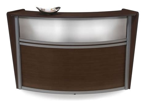 1pc oval modern contemporary office reception desk