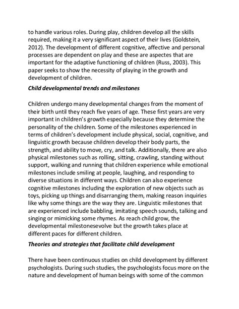 thesis abstract about child development essay for human development