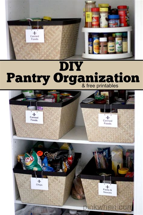 diy how to perfectly organize your pantry diy crafts mom diy pantry organization project pinkwhen