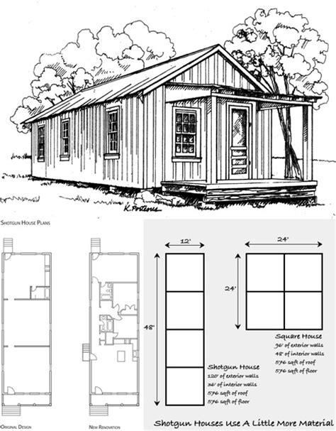 shot gun house plans pinned from