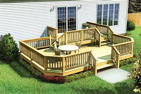 home deck plans project plan 90042 two level deck w angle corners