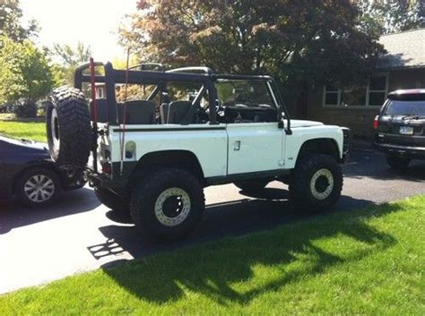 land rover defender lifted purchase used 1995 land rover defender 90 rock crawler v8