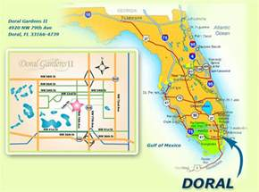 where is doral florida on map map florida doral