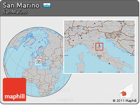 san marino country map free gray location map of san marino highlighted country