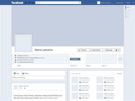 facebook layout free vector free vector facebook profile timeline by tatchies