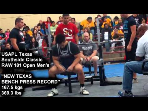 texas bench press record victory episode 9 by musclemania pro tuan tran new usapl
