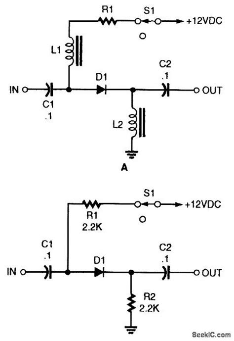 diode based circuits basic pin diode rf switch control circuit circuit diagram seekic
