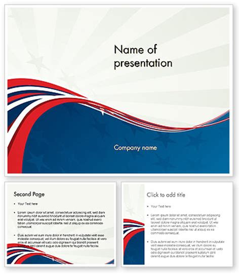 patriotic themed powerpoint template poweredtemplate com