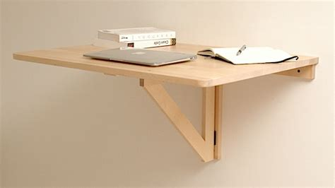 Wall Mounted Folding Desk by Repurpose A Wall Mounted Folding Table As A Collapsible