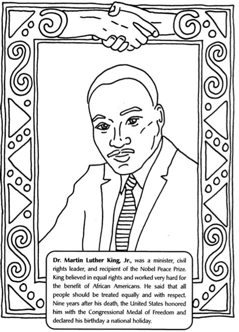 Mlk Jr Coloring Pages Martin Luther King Jr Day Activity For Kids Le Top Blog