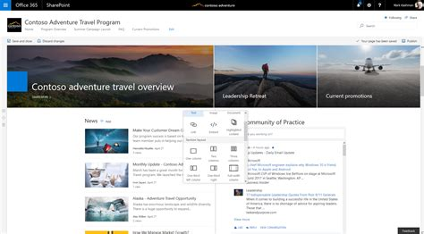 best news site reach your audience via sharepoint communication in