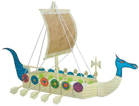 viking boats ks1 kids craft project from recyclables for making a viking
