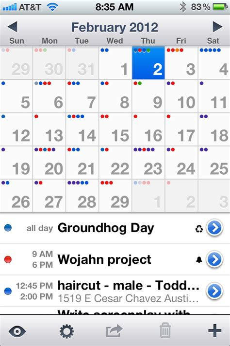 better calendar app for iphone the best calendar app for iphone scottworld my