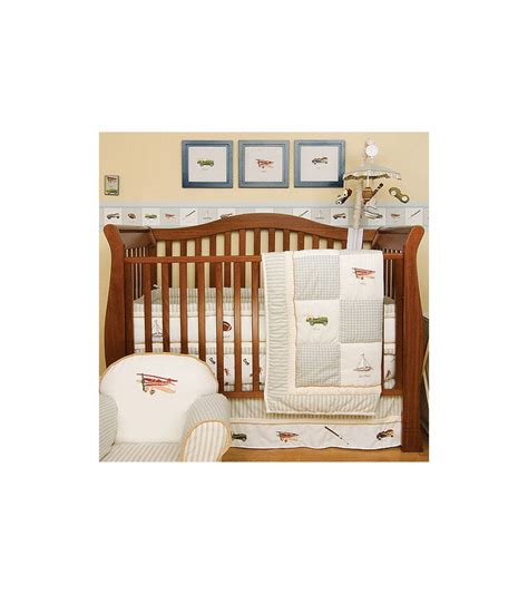 kidsline crib bedding kidsline antique toy 6 piece crib bedding set
