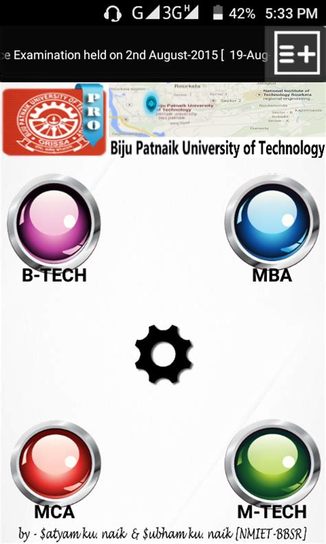 Biju Patnaik Of Technology Mba Results 2010 by Bput Calculator Notify Pro Android Apps On Play