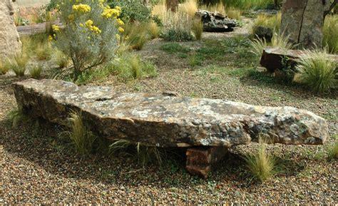 rock bench stone benches santa fe stone