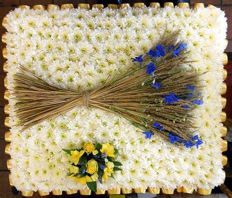house of wheat funeral home wheat sheaf funeral flower tribute by blossom florists a specialist in funeral flowers