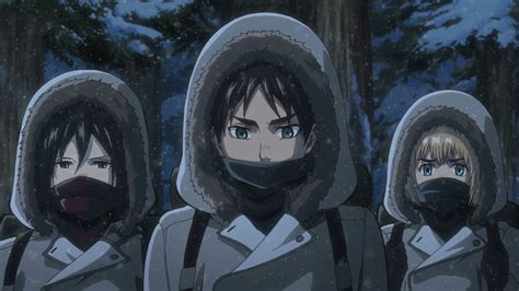 Attack On Titan 04 attack on titan 30 01 winter clouded anime