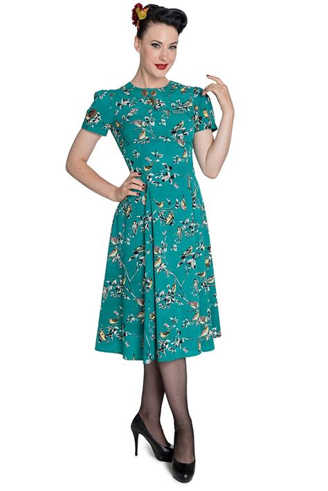 8 Stunning Vintage Dresses by Stunning 40s 50s Style Tea Dress In Teal By Hellbunny