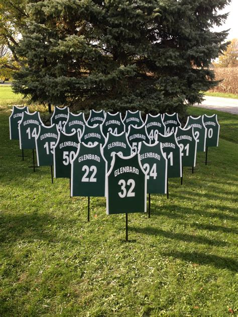 personalized sports yard signs football baseball