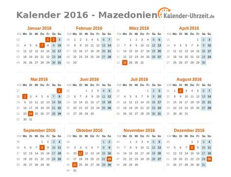 Feiertage Kalender 2016 Feiertage 2016 Mazedonien Kalender 220 Bersicht