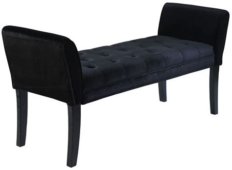 velvet bench chatham black velvet bench lc0845bebl armen living