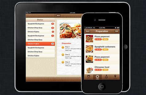 iphone app design template foody iphone and ios app ui design templates