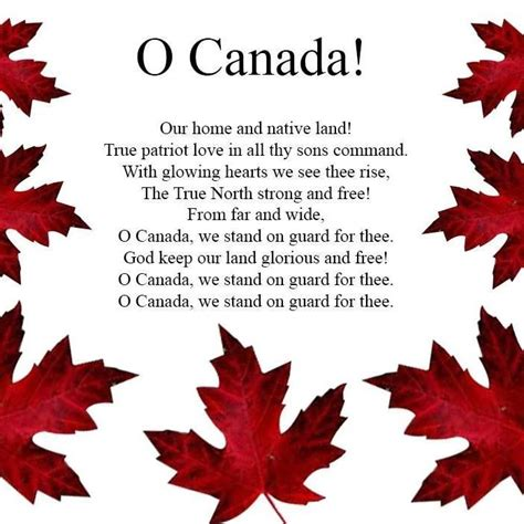 o canada lyrics printable version lyric original national anthem lyrics original national