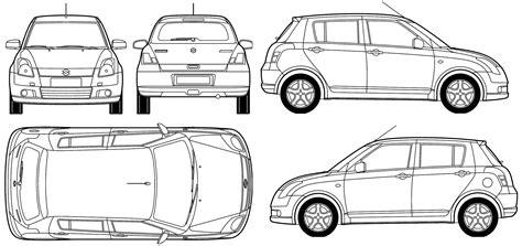 blueprint templates car blueprints suzuki blueprints vector drawings