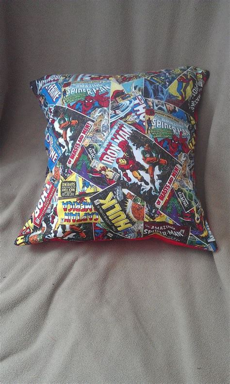 Marvel Throw Pillows by Marvel Comics Throw Pillow By Hatznthangz On Etsy