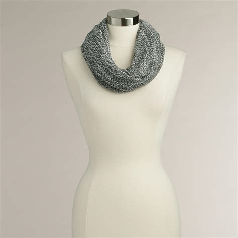 black and white infinity scarf with lurex world market