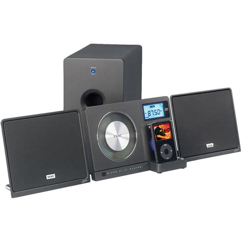 Teac Mc Dx220i Slim Cd System And Ipod Dock by Teac Mc Dx32i Slim Cd System Mc Dx32i B H Photo