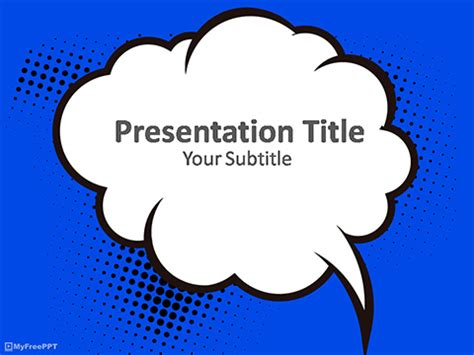 comic book presentation template free cloud powerpoint templates myfreeppt