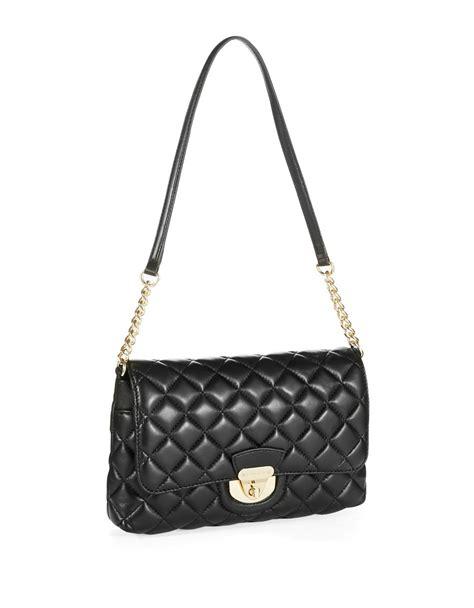 Calvin Klein Quilted Handbag by Calvin Klein Quilted Crossbody Bag In Black Black Gold