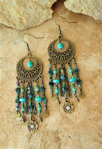 Bohemian Chandelier Earrings Boho Chandelier Earrings Turquoise From Bohostyleme Boho