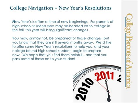 new year s resolutions for high school parents