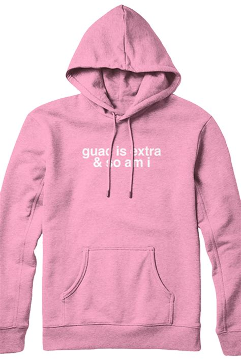 Hoodie Brown Line Pink guac is and so am i hoodie pink outerwear charles outerwear official