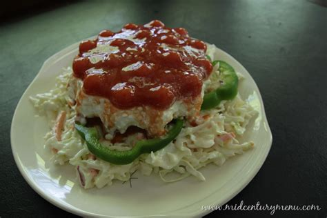 jellied cottage cheese and tomato salad a vintage