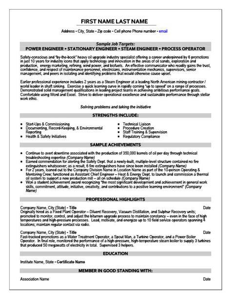 stationary engineer resume sle resume ideas