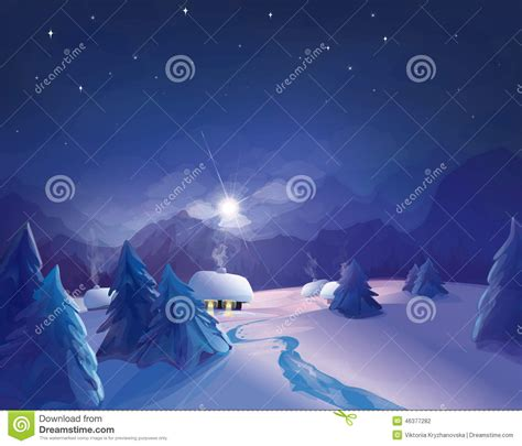 illustrator tutorial night scene illustrator vector night winter scene stock vector image 46377282