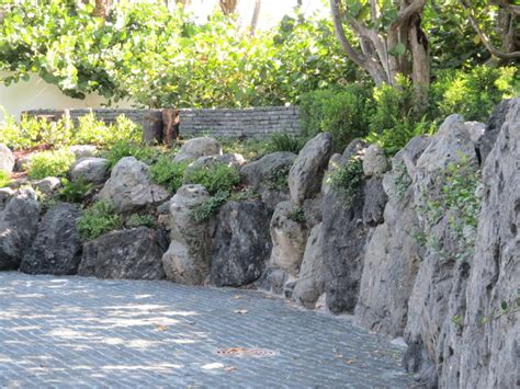 Rock Garden In Florida Rock Garden Walls Driveway In Manalapan Florida Asian Landscape Other Metro By