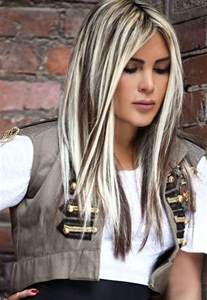 white hair with black lowlights brown highlights on bleached blonde hair 1 beautiful