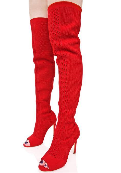 heat myth thigh high sock boots dolls kill