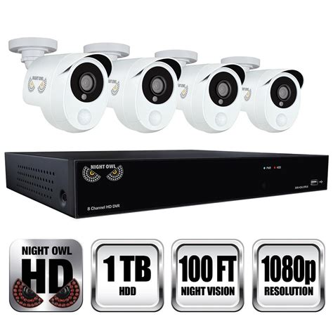 owl 8 channel 1080p security system with 1tb hdd