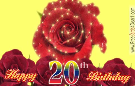Happy Birthday 20th Wishes 20th Birthday Ecards Greeting Cards